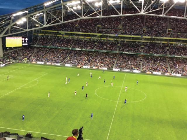 Action from Arsenal v Chelsea in the Aviva Stadium, Dublin Photo by Paul Lagan