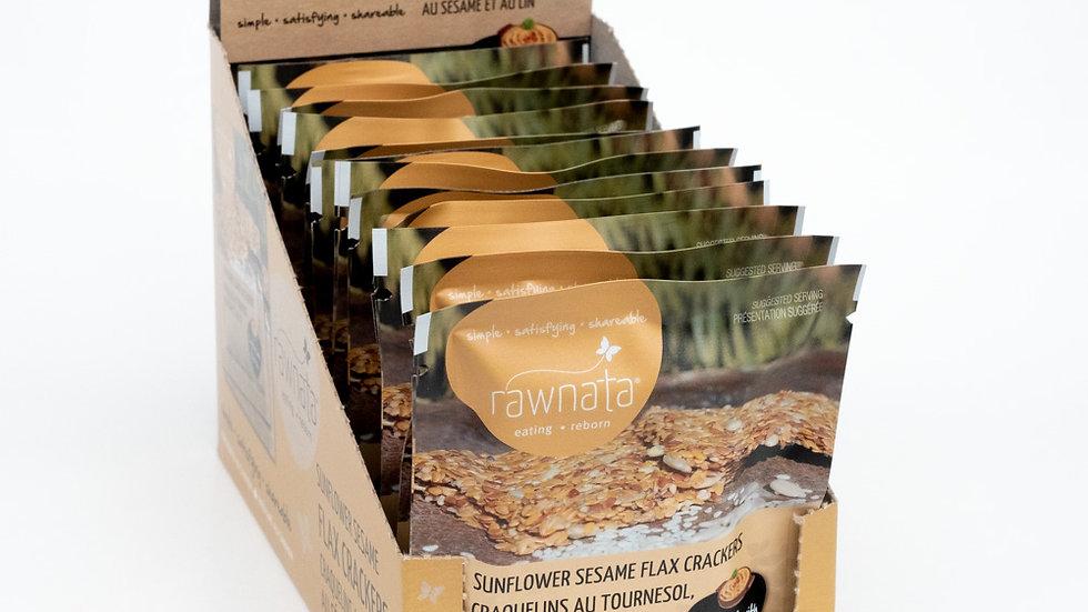 Sunflower Sesame Flax Crackers