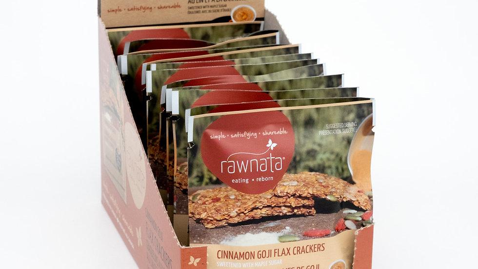 Cinnamon Goji Flax Crackers