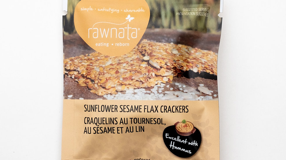 Sunflower Sesame Flax Crackers
