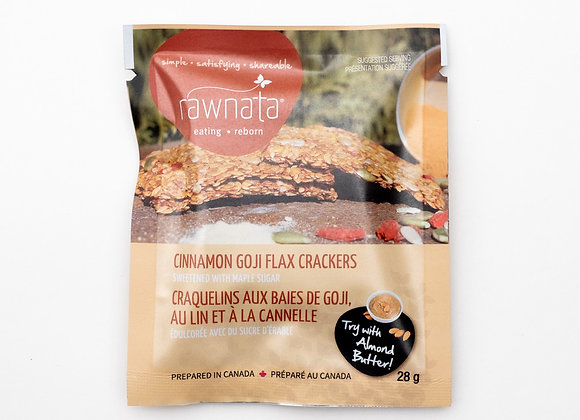 Cinnamon Goji Flax Crackers