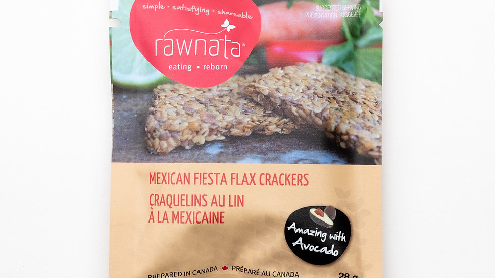 Mexican Fiesta Flax Crackers