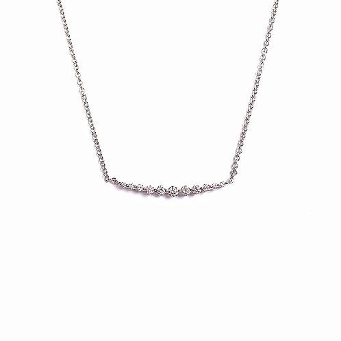 """Elleve"" Diamond Bar Necklace"