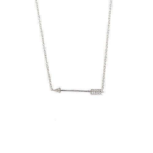 """""""Strijela"""" Diamond Arrow Necklace"""