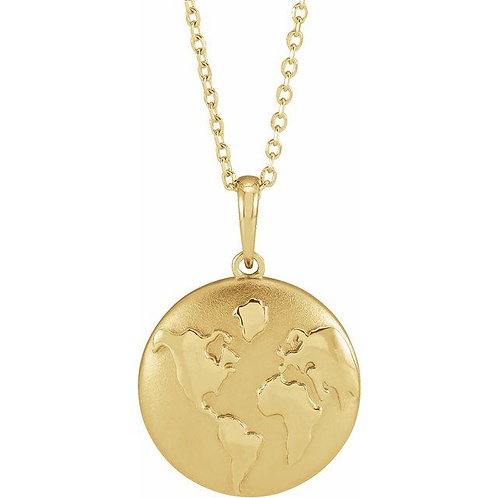 Little Gold Planet Necklace