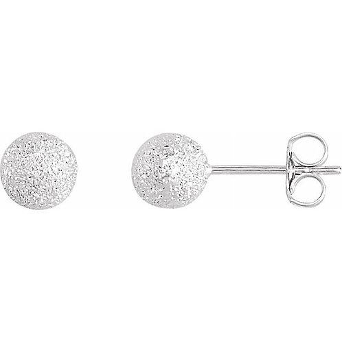 """""""Silver Stardust"""" Ball Earrings"""