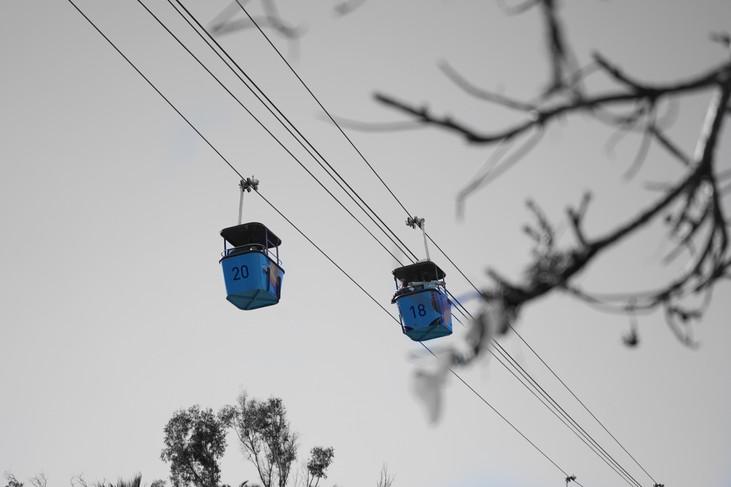 """Blue Cable Car"" San Diego, California. 2019"