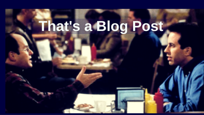 That's a Blog Post