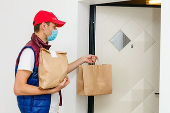 male-food-delivery-home-face-mask-takeou