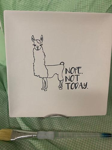 Coloring book Llama plate