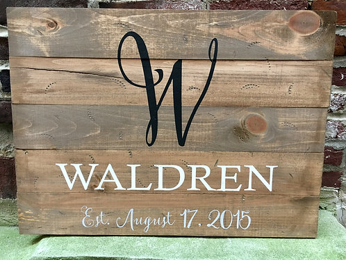 Wood Signs (made by us)