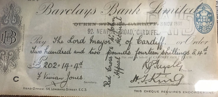 Cotton v Rees 1939 Cheque.jpg