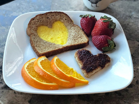 Making Heart Shaped Eggs & Toast for Your Valentine