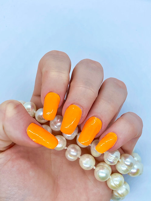 Neon Orange Nagelfolie