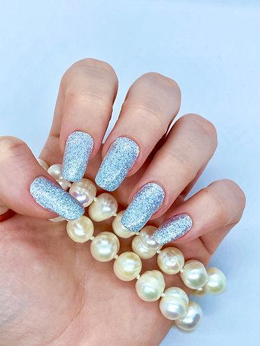 Silver Shimmer Nagelfolie