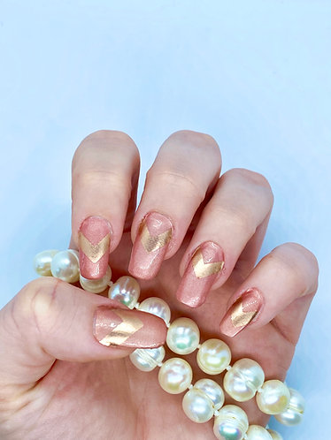 Rose-Gold Glam Nagelfolie