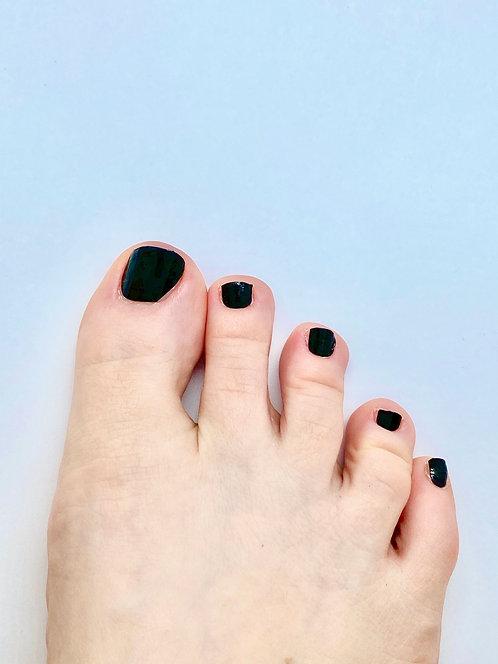 Monochrome Black Nagelfolie