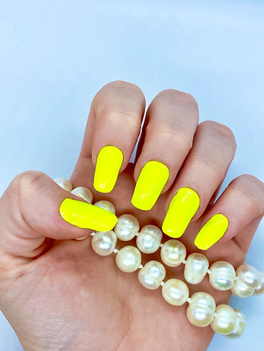 Neon Yellow Nagelfolie