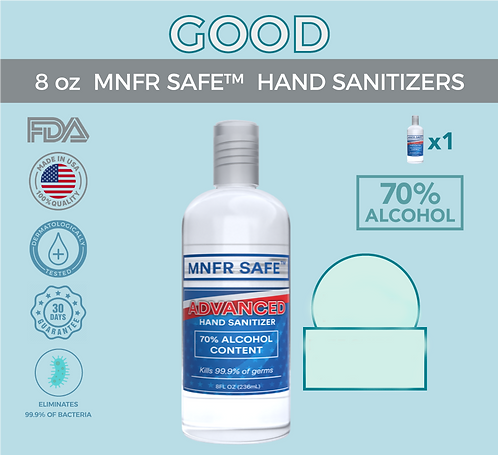 8 oz. MNFR SAFE™ HAND SANITIZER