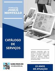 Capa do catálogo de serviços da FJMONTELLO