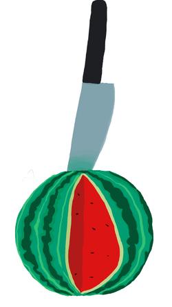 אבטיח על הסכין