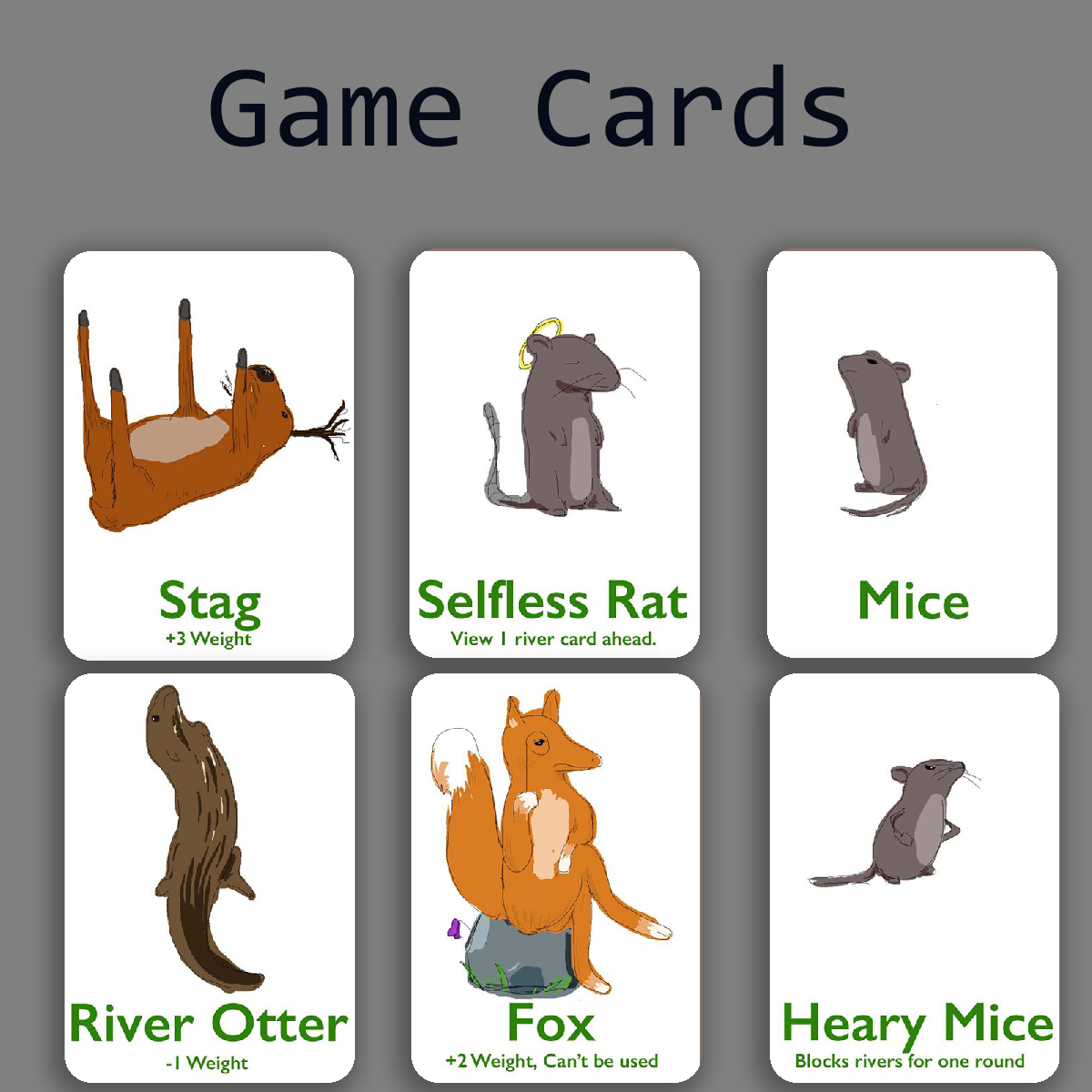 Illustrated Game Cards
