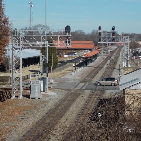 Salisbury Station Platform and Pedestrian Bridge