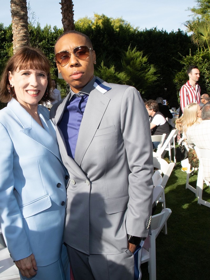 Making friends with the multi talented and fellow producer, Lena Waithe, at Variety's Directors Brunch in Palm Springs.