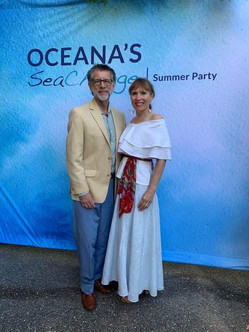 With my husband, Colin, at Oceana's SeaChange Summer Party!