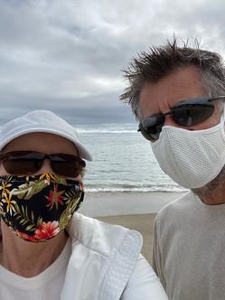 Masked up in Malibu!