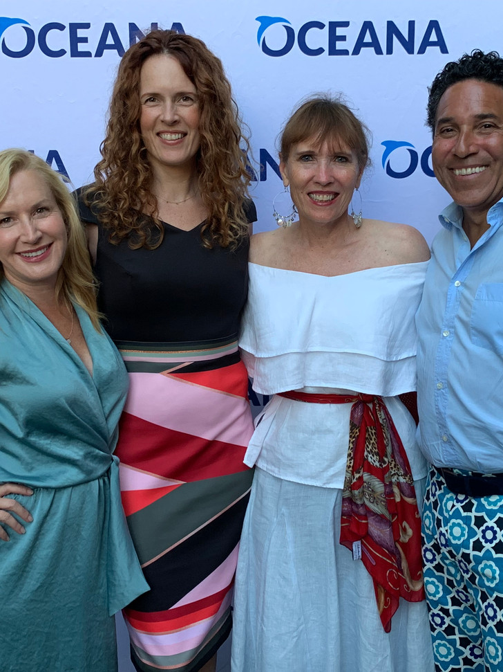 You may recognize a couple of these faces from the hit tv show, The Office! With friends Angela, Ursula, and Oscar at Oceana's SeaChange Summer party.
