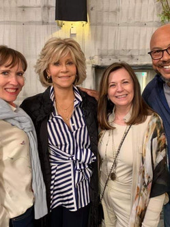 Another long awaited reunion. On the set of 'Grace & Frankie', great to see Jane after so long. A wonderful woman and activist for climate change prevention!