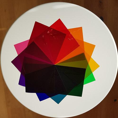 Farbfolien einzeln 13x13cm