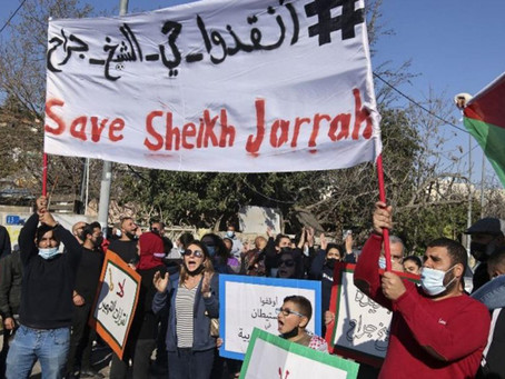 We stand with #SheikhJarrah. #WeStandWithGaza.