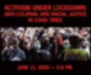 Activism Under Lockdown Website graphic