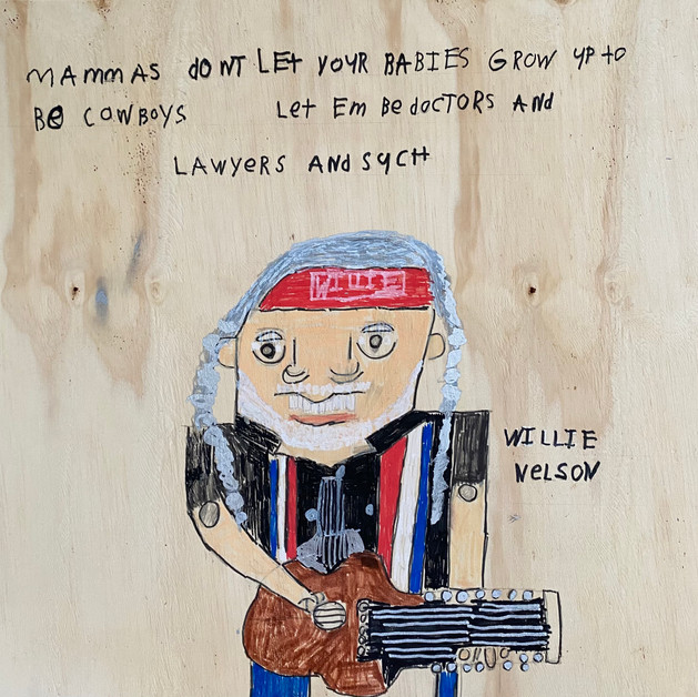 Willie Nelson by Rick Fleming
