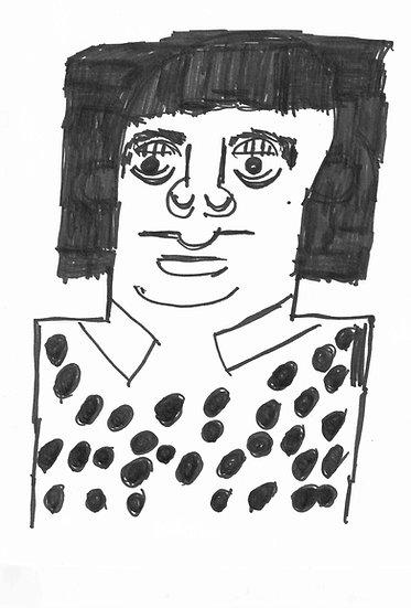 """Kusama"" by Rick Fleming Original Drawing"