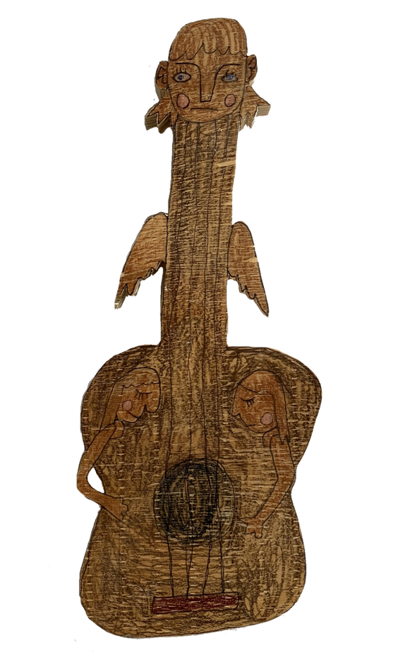 Guitar with Faces by Jackson Sutton