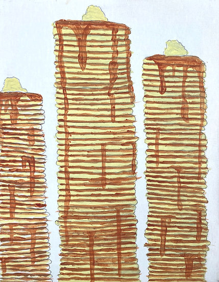 """Tower of Pancakes"" by Elijah Giorgi Fine Art Print"