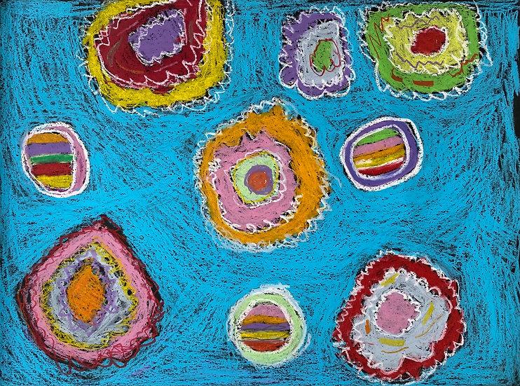 """Fireworks"" by Emily Dodson Original Art"