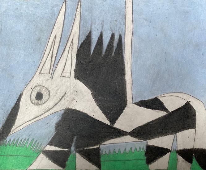 """Zebra on Grass"" by Anthony Coleman"