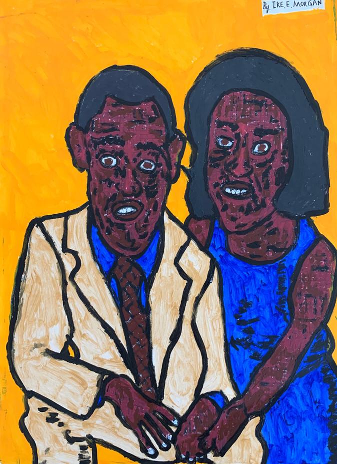 Barak and Michele Obama by Ike Morgan
