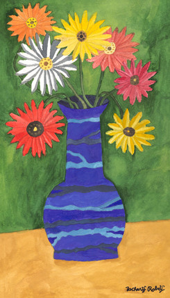 Flowers in Vase by Zachary Robey