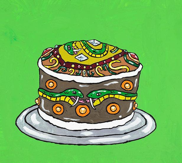 """Snape Rickman's Serpents of Slytherin Hogwarts Cake"" by Yukari Sakura"
