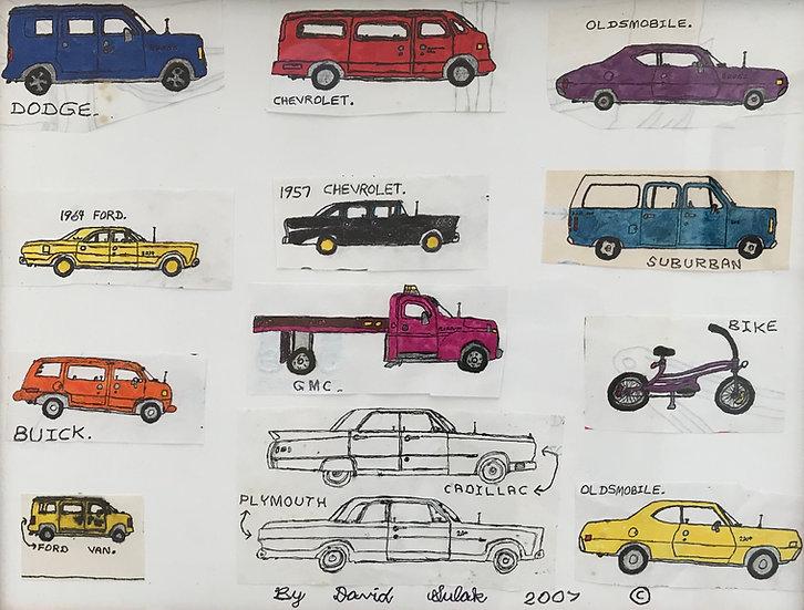 """Drove of Cars"" by David Sulak Fine Art Print"
