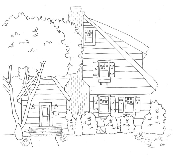 Little Blue House by Gav Sears