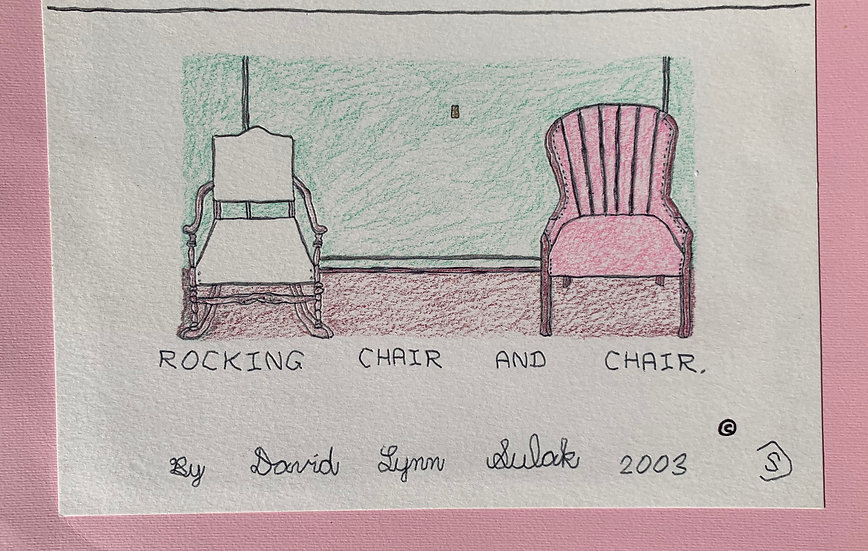 """""""Rocking Chair and Chair"""" by David Sulak Original Art"""