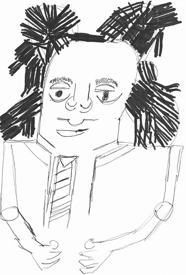 """Basquiat"" by Rick Fleming Original Drawing"