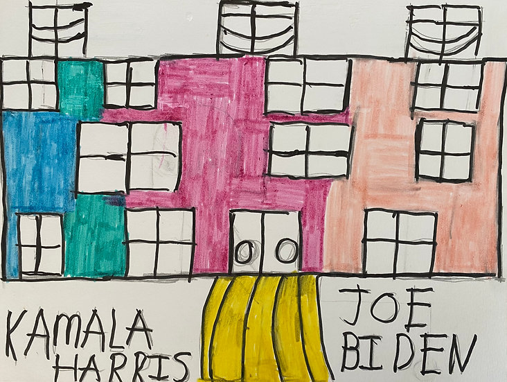 """White House"" by Rick Fleming Original Drawing"