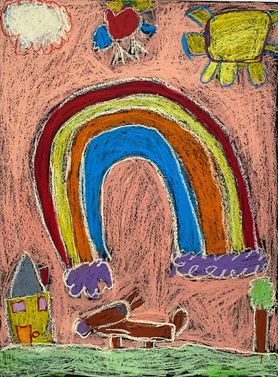 """""""Rainbow at the Backyard"""" by Emily Dodson"""